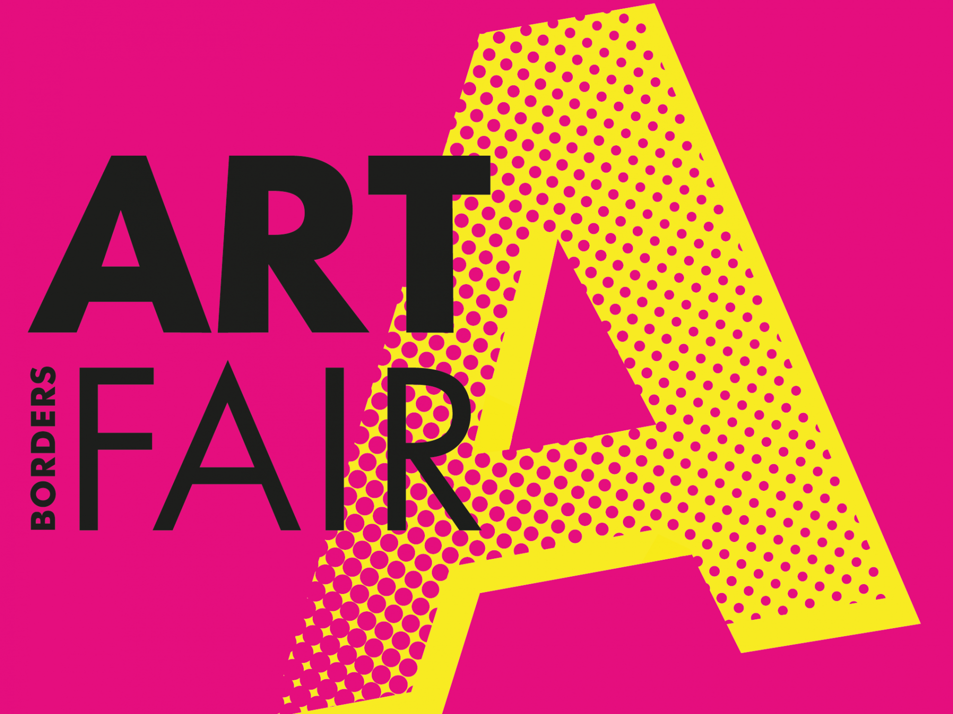 Logo for the Borders Art Fair at the Border Union Showground in Kelso, Scottish Borders