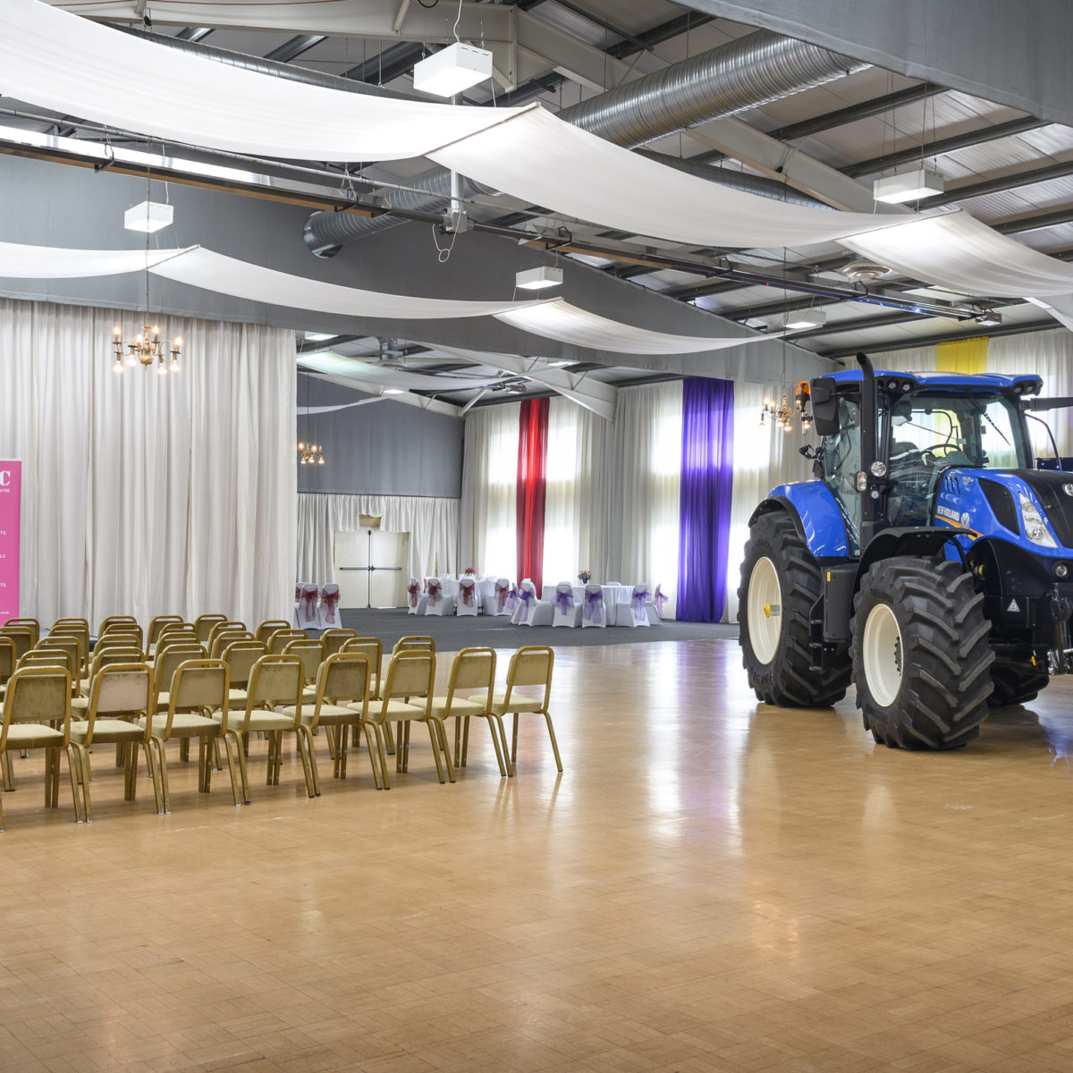 Borders Events Centre in Scotland has a large 1,000 sqm multi-purpose hall