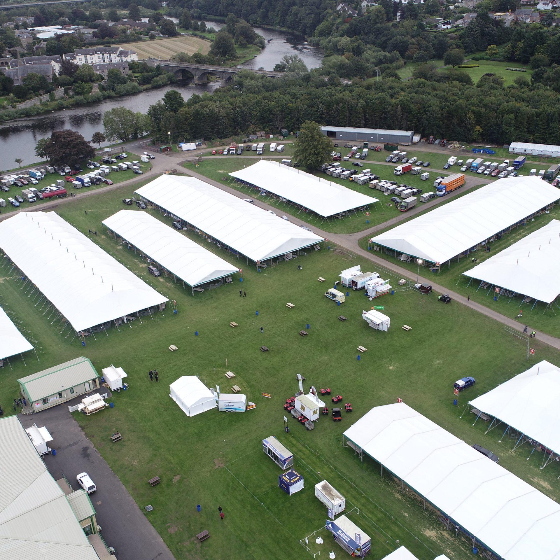Border Union Showground set up for Kelso Ram Sales